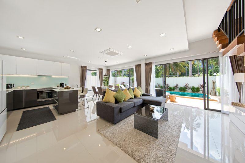Villa Nabu - open plan living on Koh Samui
