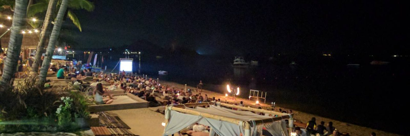 Fisherman's Village at night