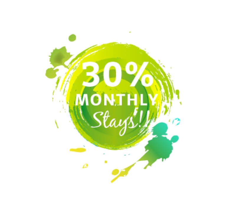 30% off monthly stays