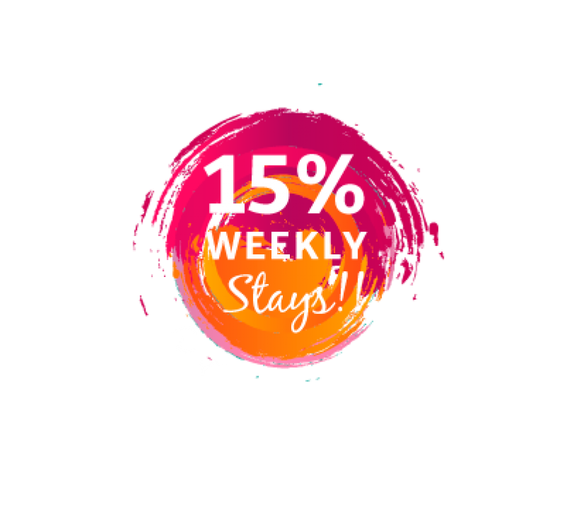 15% off weekly stays
