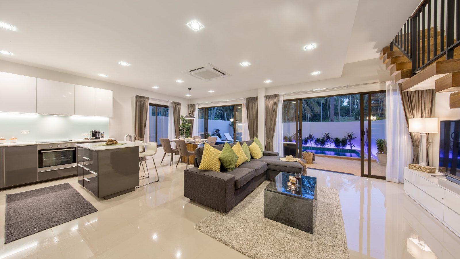 Villa Nabu - downstairs living area