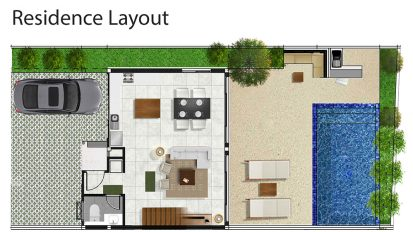 Samui Villa Now - downstairs floorplan